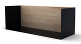ethnicraft oak U shelf, medium, black, W 22"
