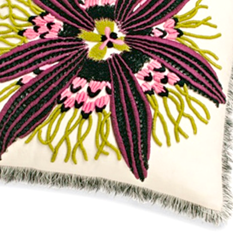 passion flower t04 40cm x 40cm cushion