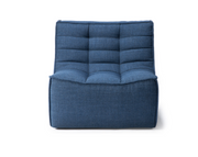 ethnicraft n701 sofa - 1 seater - blue, L 31"