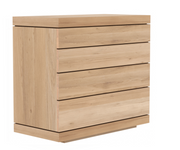ethnicraft oak burger chest of drawers - 4 drawers, W 39"