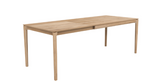 ethnicraft oak bok extendable dining table, L 55/87"