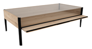 ethnicraft oak window coffee table, varnished, L 47"
