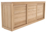 ethnicraft oak pure sideboard - 3 sliding doors, L 98"