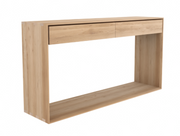 ethnicraft oak nordic console, 2 drawers,L 63"