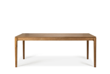 ethnicraft teak bok dining table, L 87"