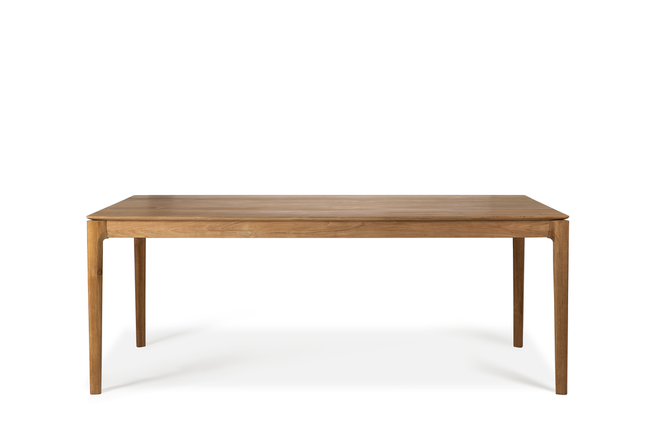 ethnicraft teak bok dining table, L 94"