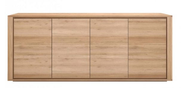 ethnicraft oak shadow sideboard - 4 doors, L 80"