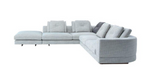 "cite na sectional sofa, left/right facing, fabric: cream tweed, W 126""x118"" 