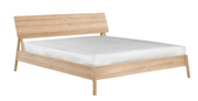 ethnicraft oak air bed, with slats, us queen, L 70"