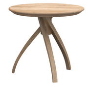 ethnicraft oak twist side table, Ø 16"