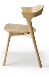 ethnicraft oak bok dining chair, finish oiled, L 20"