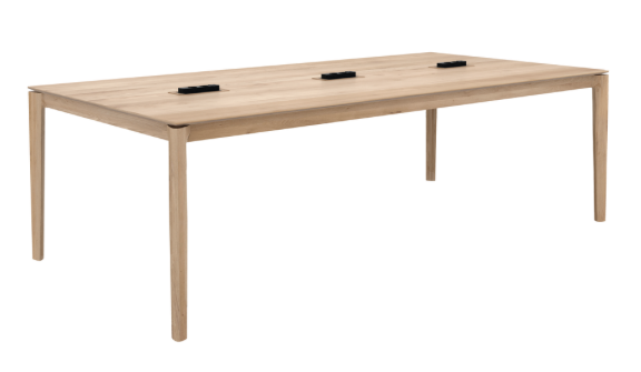 ethnicraft oak bok cowork desk, finish: varnished - CEE7/5 - 230V, 16A, L 94"
