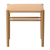 maruni lightwood stool, low, cushioned