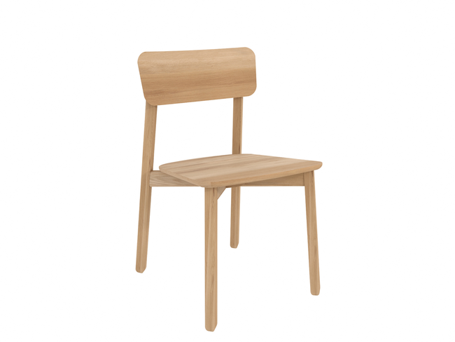 ethnicraft oak casale dining chair, varnished, L 18"