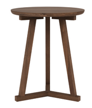 ethnicraft walnut tripod side table, Ø 18"