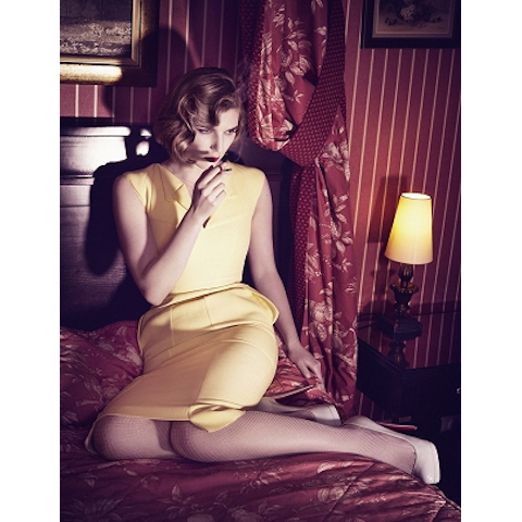 yellow korner 'red room' by kourtney roy
