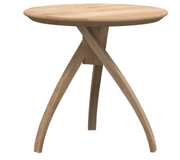 ethnicraft oak twist side table, Ø 18"