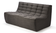 ethnicraft n701 sofa, 2 seater, dark grey, W 55"
