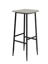ethnicraft dc bar stool without backrest, color: light grey, W 15"