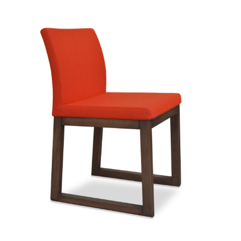 cite aa wood sled dining chair