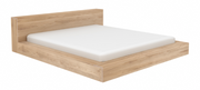 ethnicraft oak madra bed - with slats - US queen size - varnished, L 75"