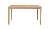 ethnicraft oak bok dining table, L 79"