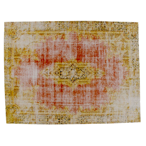 miinu industrial pure carpet, red and gold