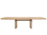 ethnicraft oak double extendable dining table, L 79/118"