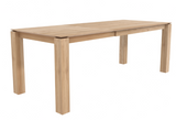 ethnicraft oak slice extendable dining table - legs 8 x 8 cm - L 55/87 | W 35 | H 30