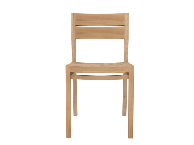 ethnicraft oak ex-1 chair, L 17"