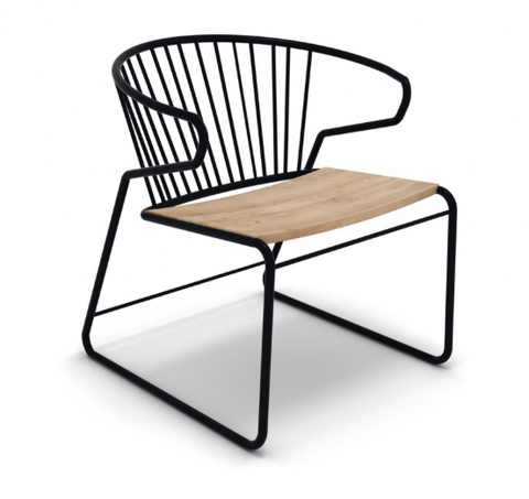 Oak Gabbia lounge chair