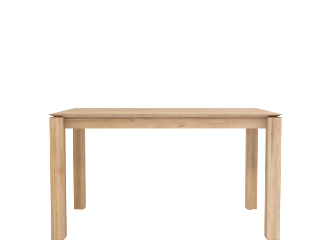 ethnicraft oak slice dining table, legs 10 x 10 cm, L 59"