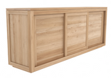 ethnicraft oak pure sideboard - 3 sliding doors, L 79"