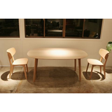 maruni roundish dining table, small