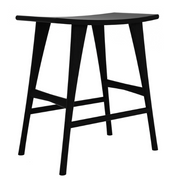 ethnicraft oak osso high stool - finish: black varnished, L 22"