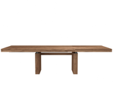 ethnicraft teak double extendable dining table, L 79/118"
