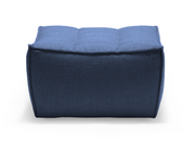 ethnicraft n701 sofa, footstool, blue, W 28"