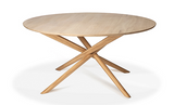 ethnicraft mikado round dining table, oiled oak, Ø 59"