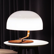oluce zanuso 275 table lamp, nut brown