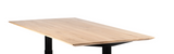 ethnicraft oak bok varnished oak top only for adjustable desk, L 79"
