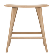 ethnicraft oak osso high stool, finish: varnished and contract grade, D 22"