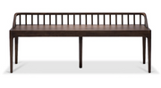 ethnicraft walnut spindle bench - varnished