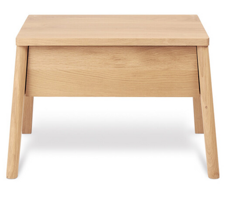 ethnicraft oak air bedside table