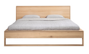 ethnicraft oak nordic II bed, with slats, us queen, L 70"