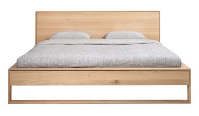 ethnicraft oak nordic II bed