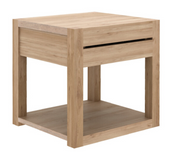 ethnicraft oak azur bedside table - 1 drawer, L 19"
