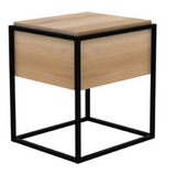 ethnicraft oak monolit bedside table - black