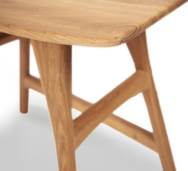 osso varnished oak dining stool