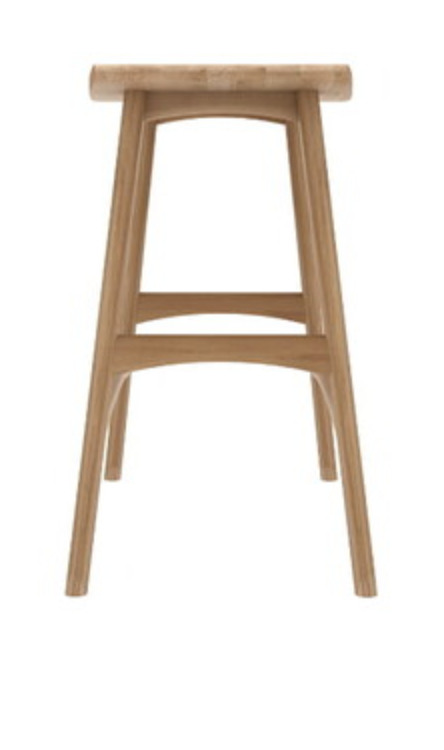 osso varnished oak counter stool
