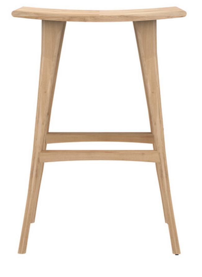 osso varnished oak bar stool